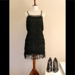 Yoana Baraschi Sleeveless Fringe Mini Dress